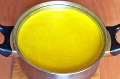 Измельчаем суп в пюре