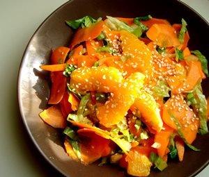 Морковный салат с апельсином
