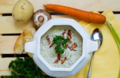 Грибной суп-пюре готов