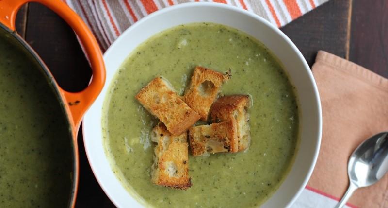 Суп-пюре из брокколи — рецепты с фото