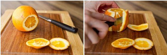 Чистим апельсин для салата