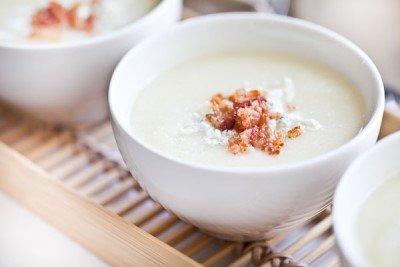 Суп-пюре из цветной капусты готов