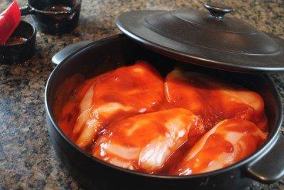 Ставим курицу в духовку
