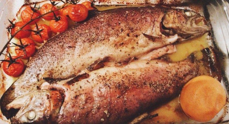 запеченная речная форель с картошкой в духовке рецепт