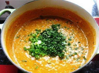 Суп из красной чечевицы готов
