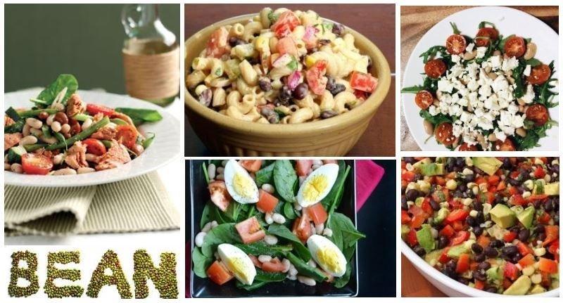 Салаты с консервированной фасолью — 7 рецептов с фото