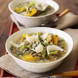 Суп с чечевицой и тыквой - постный рецепт