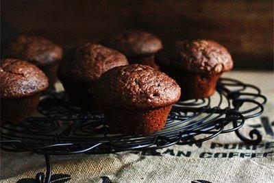 Кексы с кэробом - рецепт с фото