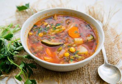 Овощной суп с кабачками - рецепт с фото