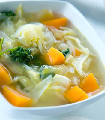 Капустный суп - рецепт для диеты