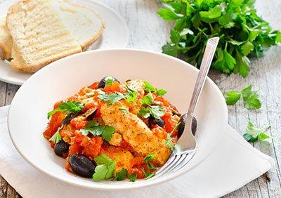 Куриная грудка с овощами готова