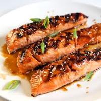 Рыба с соевым соусом и горчицей