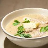 Суп-пюре из мяса на рисовом отваре