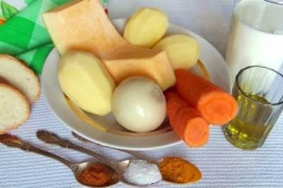 Чистим овощи для супа