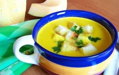 Крем-суп со сливками из тыквы готов