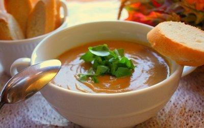 Суп-пюре из тыквы готов!