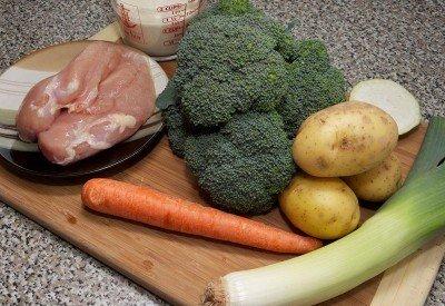 Ингредиенты для супа-пюре из брокколи