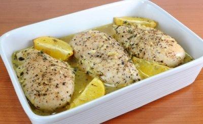 Куриная грудка с лимоном готова