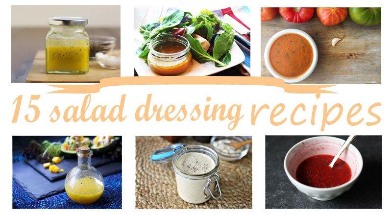 Заправки для салатов — 15 вкусных рецептов