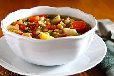 Рагу из овощей с фасолью и капустой