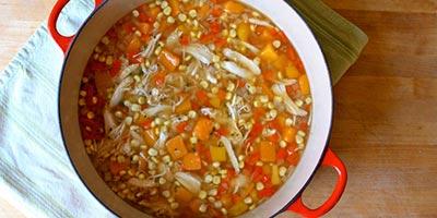 Диетический суп с куриной грудкой и тыквой