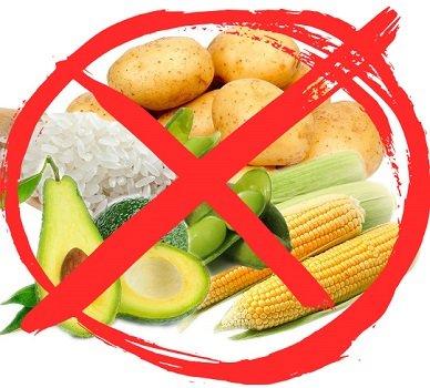 крахмалистые овощи зачеркнутые