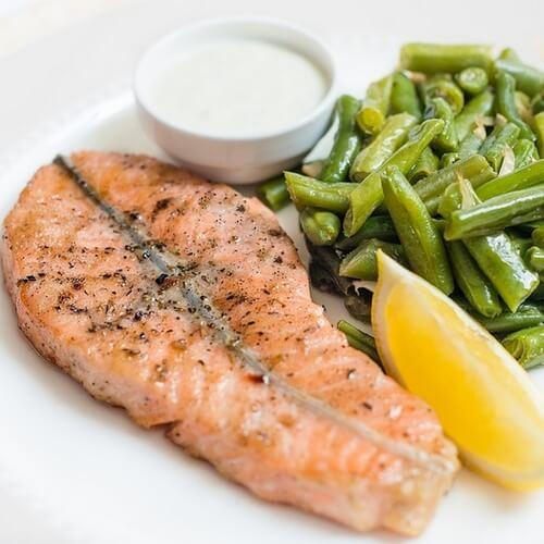 Рыба с гарниром
