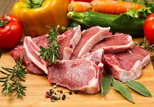Мясо филе и овощи