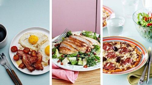 Три блюда с едой