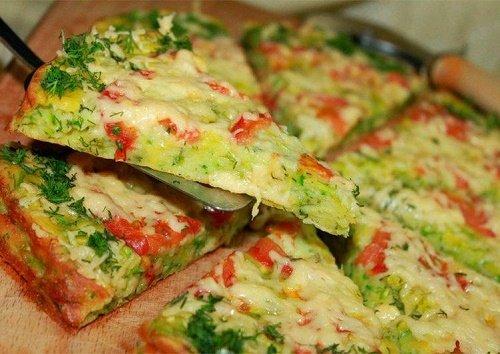 Пицца на кабачке